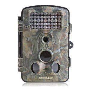 Wildkamera kaufen - Die Wildkamera CCbetter 2,4 Zoll 12 Megapixel (12 MP) 1080P HD 120 Grad Weitwinkel wasserdichte IP54 Kamera mit 42 PC IR LEDs für Nacht Vision